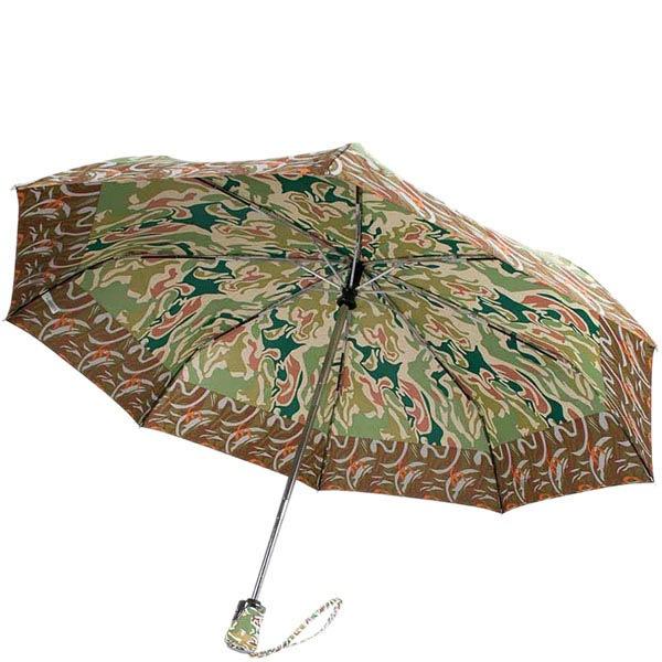 Принтованый зонт-автомат Ferre зеленого цвета