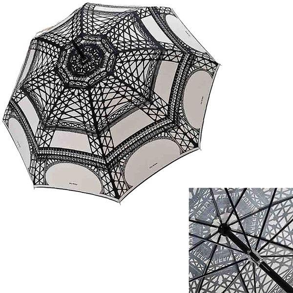 Большой женский зонт-трость Guy de Jean с рисунком Эйфелевой башни в фирменной упаковке