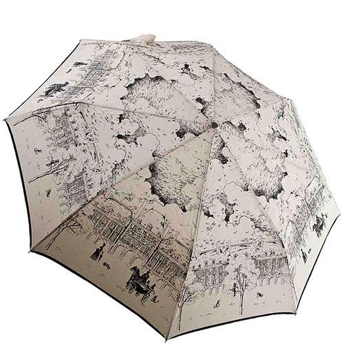 Светлый зонтик-полуавтомат Guy de Jean с художественными зарисовками