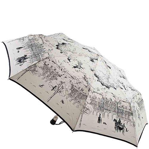 Женский бежевый зонт Guy de Jean с рисунками пейзажей французской провинции