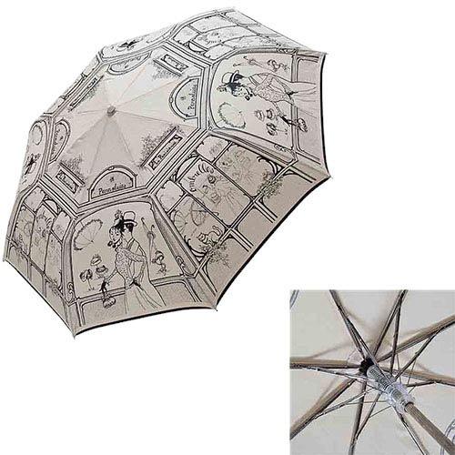 Полуавтоматический зонт Guy de Jean с набросками иллюстраций 19 века