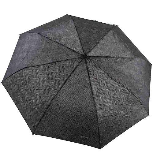 Серый унисекс зонт Ferre с полуавтоматическим механизмом и ненавязчивым принтом