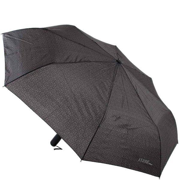 Большой зонт-унисекс Ferre с полуавтоматическим механизмом и мелким принтом
