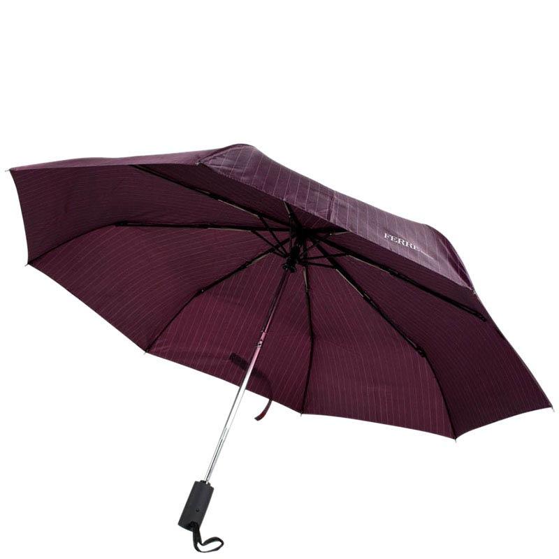 Классический зонт-автомат Ferre фиолетового цвета в полоску