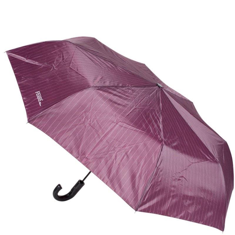 Полуавтоматический унисекс зонт Ferre фиолетового цвета в тонкую полоску