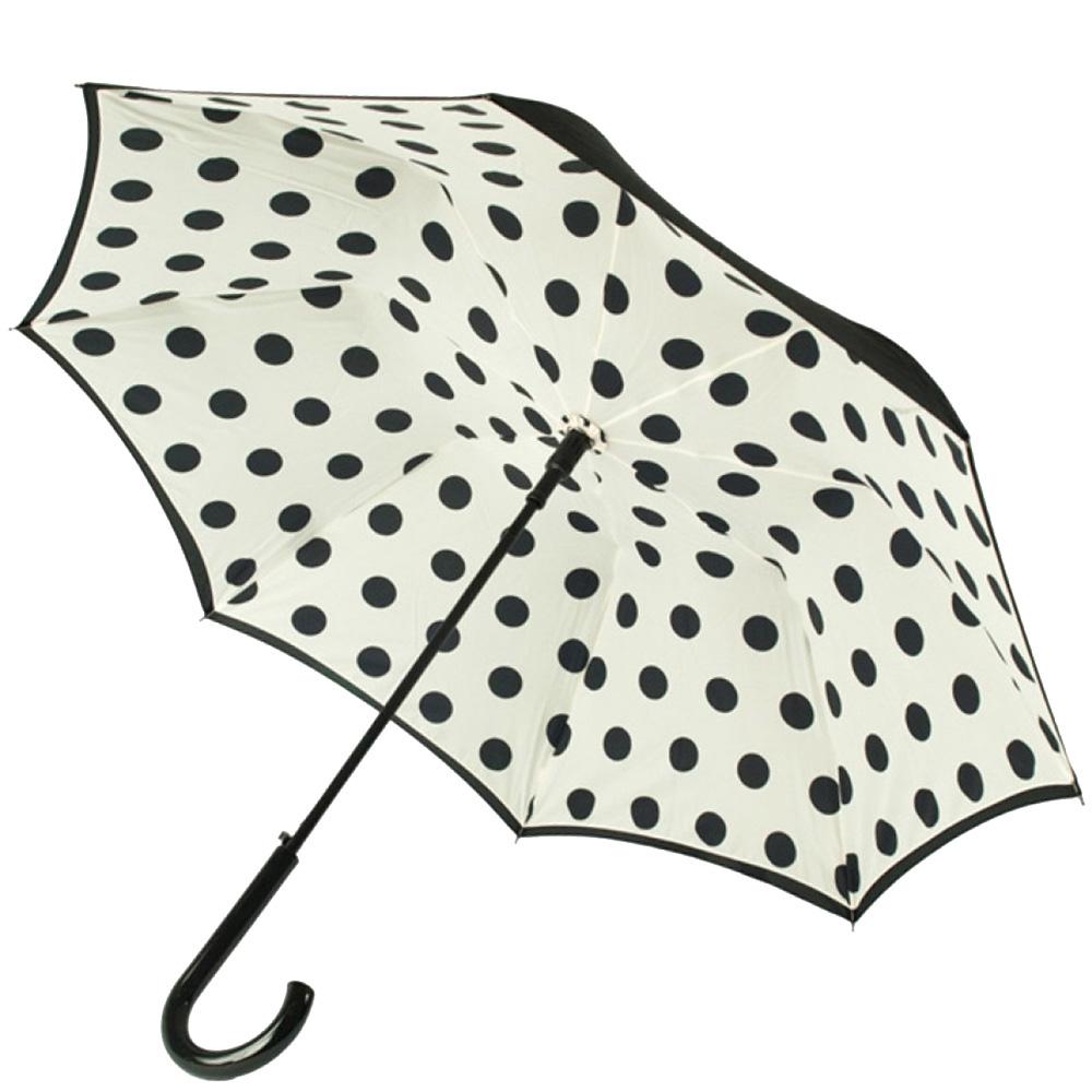 Зонт-трость Fulton Bloomsbury-2 Polkadot с двусторонней расцветкой