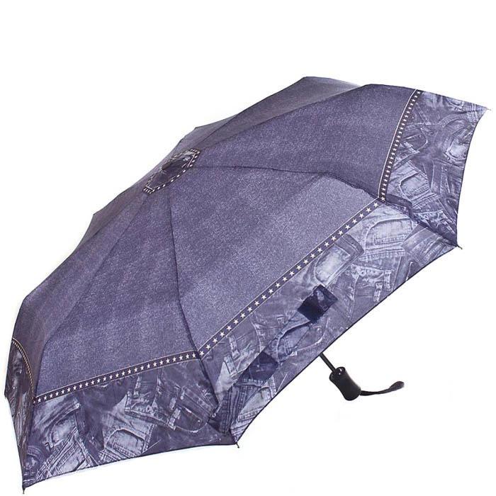 Зонт механический Derby женский диаметром 91 см с окантовкой в виде джинсового принта