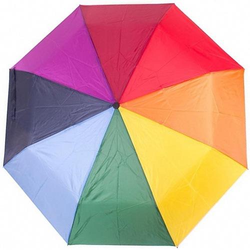 Зонт Derby механический в 3 сложения с 8 спицами разноцветный