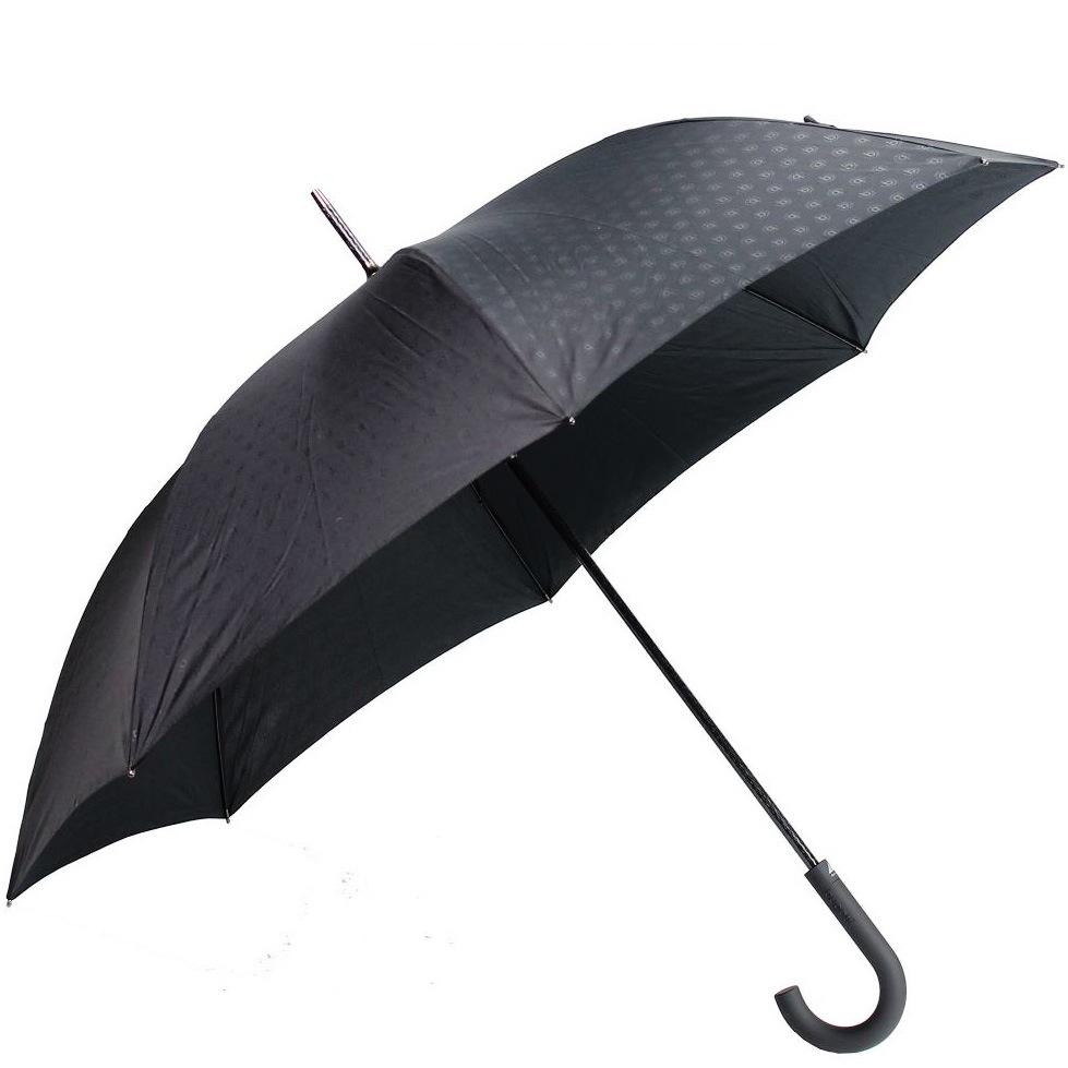Зонт-трость Bugatti автоматический с 8 спицами черный с логотипом