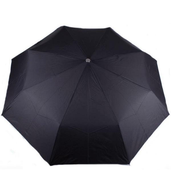 Зонт Doppler Carbon антиветер механический в 3 сложения с 8 спицами черный