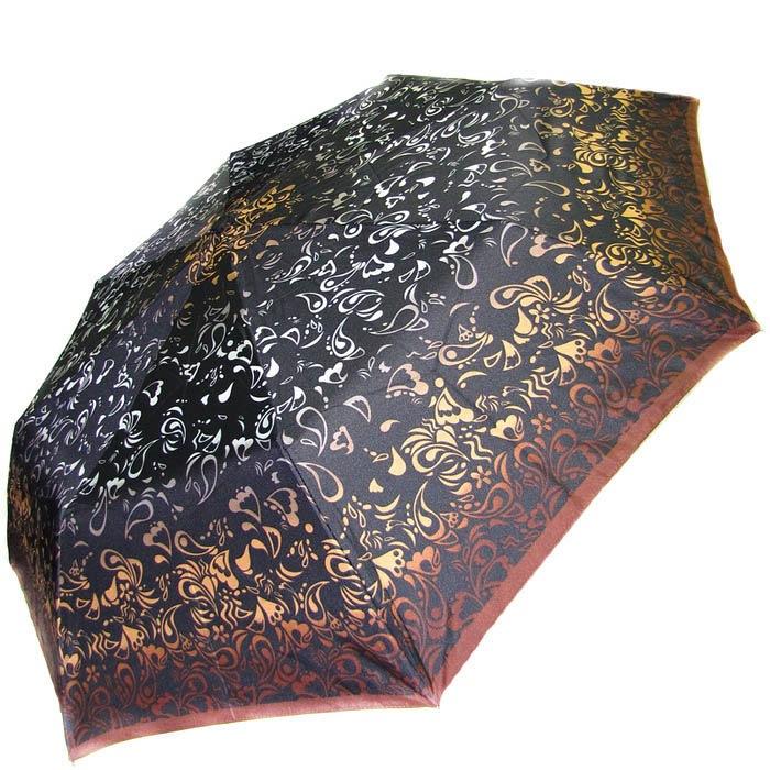 Зонт-полуавтомат Doppler женский 73016518 узорный в коричнево-бежевых оттенках