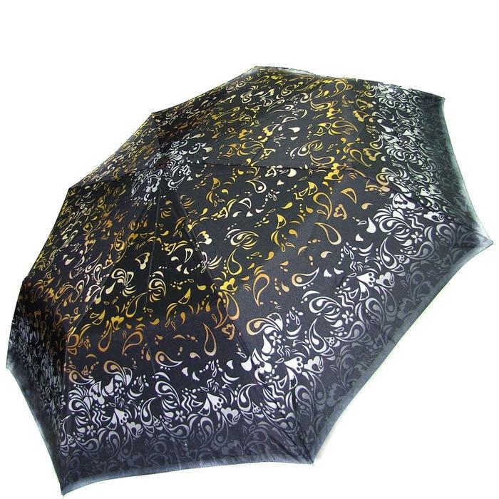 Зонт-полуавтомат Doppler женский 73016518 узорный в серо-желтых тонах