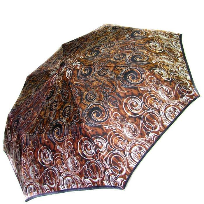Зонт-полуавтомат Doppler женский 73016518 узорный коричневого цвета