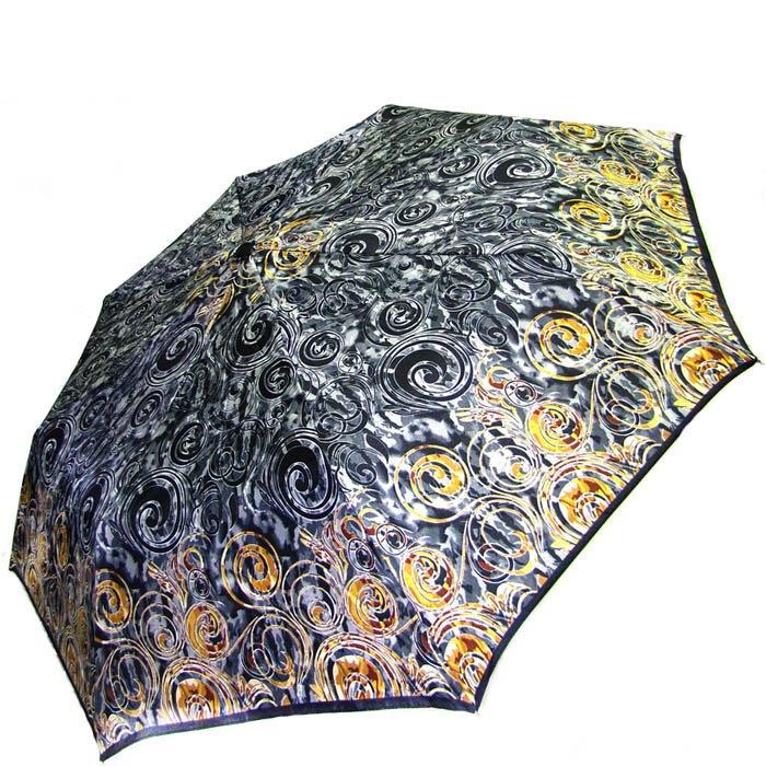 Зонт-полуавтомат Doppler женский 73016518 узорный в желто-серых тонах