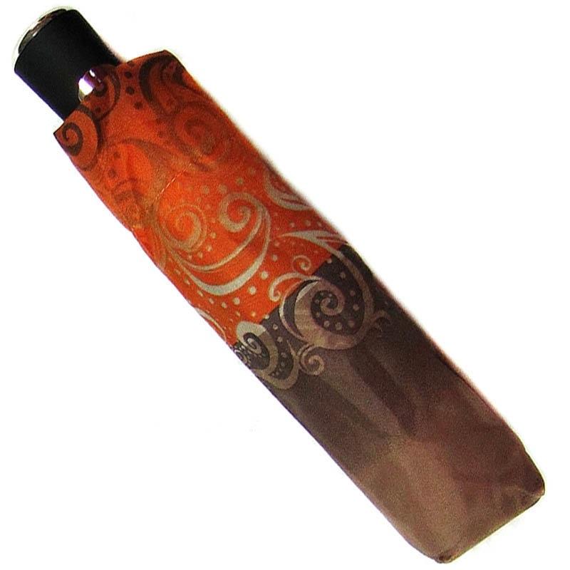 Зонт-полуавтомат Doppler женский 73016519 в коричнево-оранжевых тонах