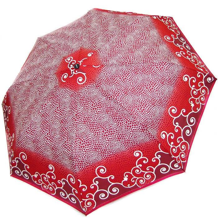 Зонт-полуавтомат Doppler женский 73016519 красного цвета в точечный узор