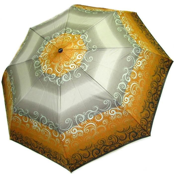 Зонт-полуавтомат Doppler женский 73016519 в серо-желтых тонах