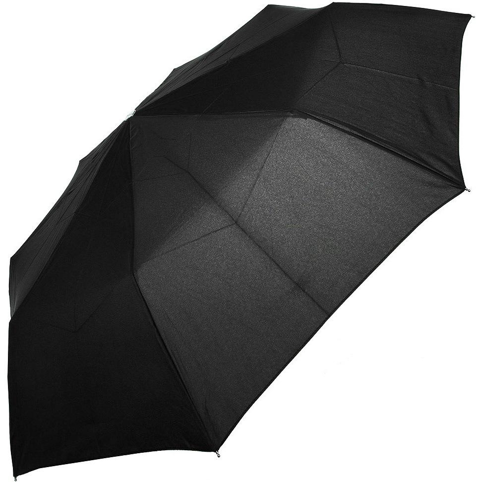 Зонт-полуавтомат Doppler Carbon антиветер в 3 сложения черный