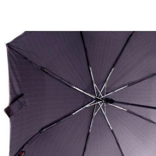 Зонт-полуавтомат Doppler Carbon антиветер в 3 сложения черный в полоску