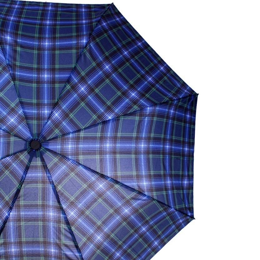 Зонт-полуавтомат Doppler Carbon антиветер в 3 сложения разноцветный в клетку