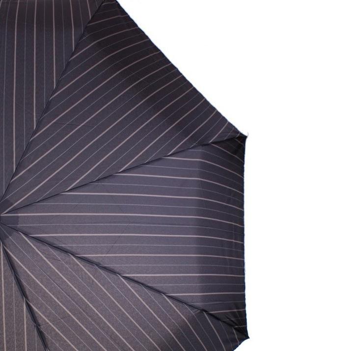 Зонт-полуавтомат Doppler Magik XM Carbon антиветер в бежевую полоску с ручкой со вставкой под дерево