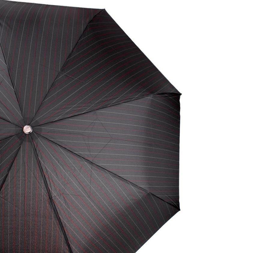 Зонт-автомат Doppler Magik XM Carbon антиветер с красными полосами с ручкой со вставкой под дерево