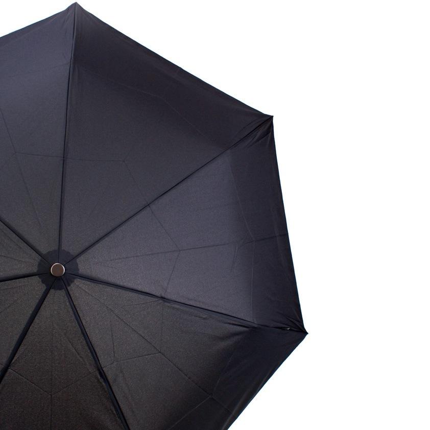 Зонт-автомат Bugatti антиветер в 3 сложения с 7 спицами черный