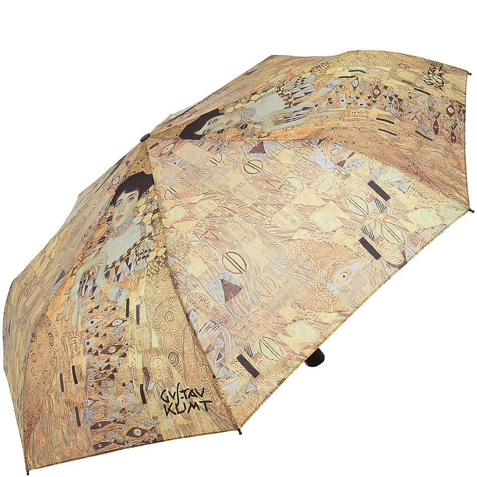 Зонт-автомат Doppler Art Collection в 3 сложения с репродукцией Климта Адель Блокбауэр