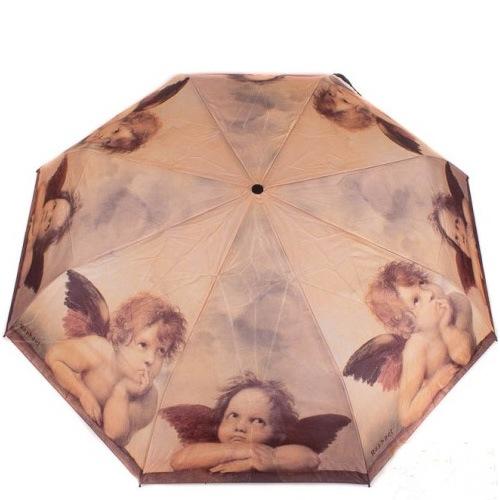 Зонт-автомат Doppler Art Collection в 3 сложения с репродукцией Рафаэля «Маленькие ангелы»