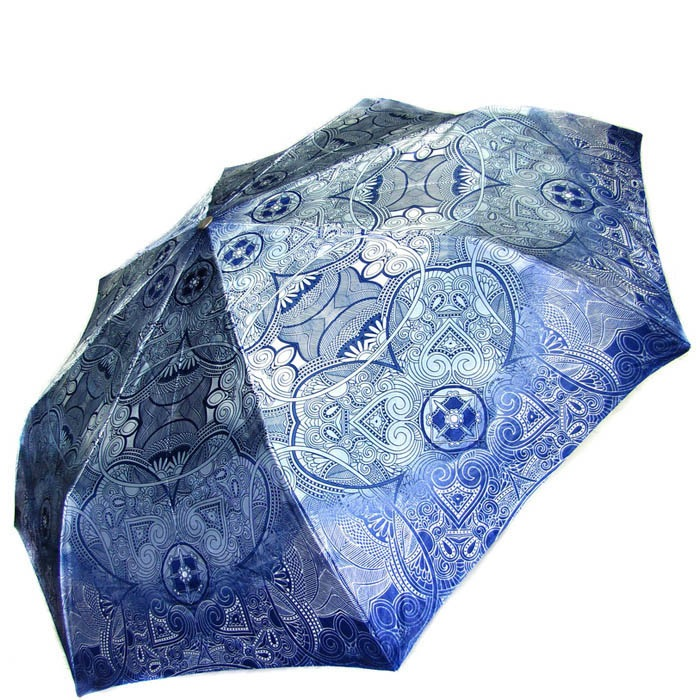 Зонт-автомат Doppler женский модель 74665GFGA сине-голубой с узорами