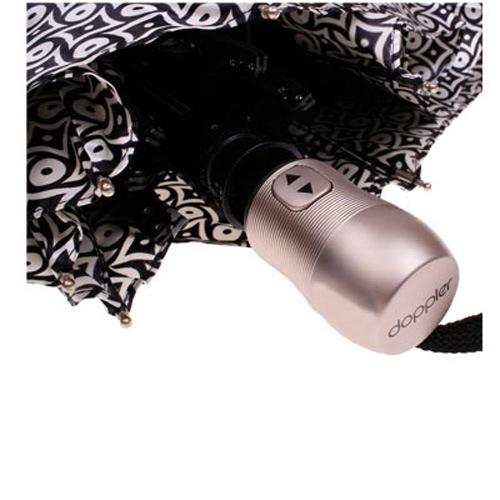 Зонт-автомат Doppler SATIN антиветер в 3 сложения черно-белый