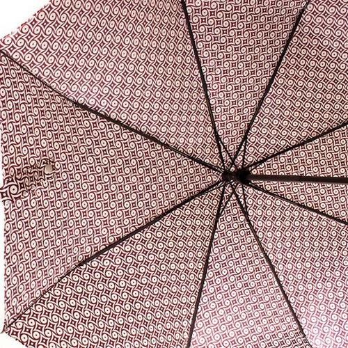 Зонт-автомат Doppler SATIN антиветер в 3 сложения бордово-белый