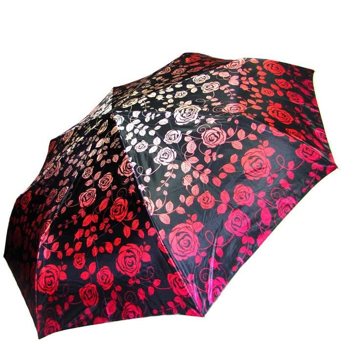 Зонт-автомат Doppler женский модель 74665GFGF18 красно-черный с узорами