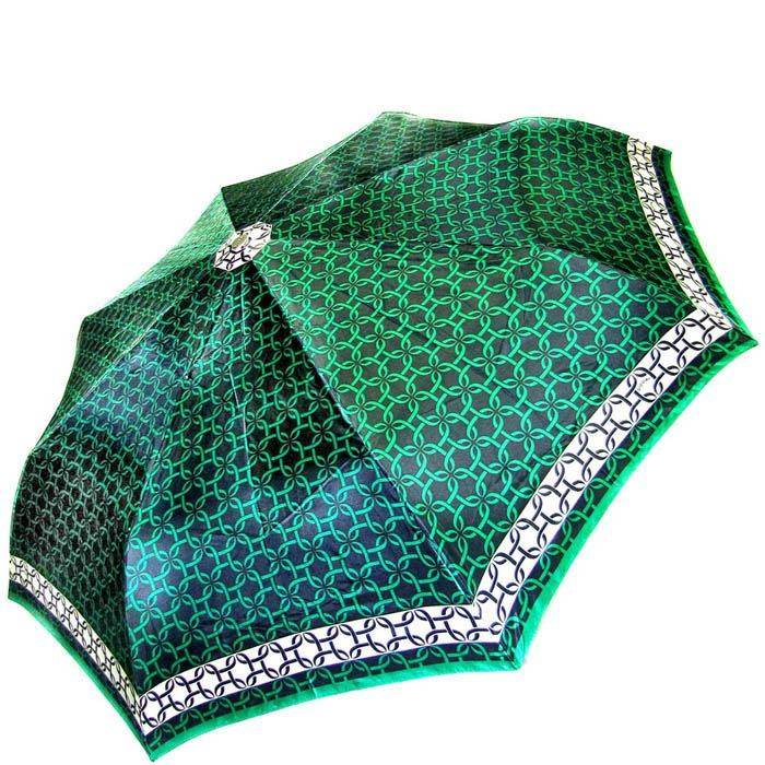 Зонт-автомат Doppler женский модель 74665GFGG18 зеленого цвета с узорами