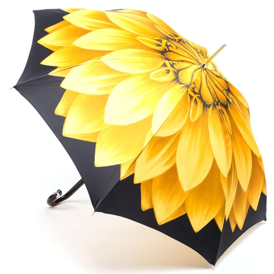 Зонт-трость Pasotti с крупным цветком