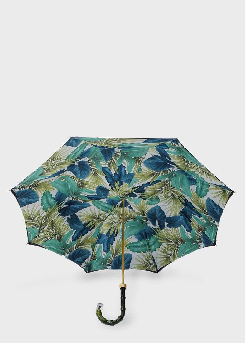 Зонт-трость Pasotti внутри с флористическим принтом