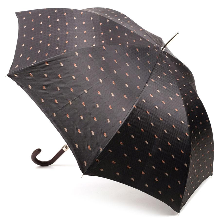Двухцветный зонт Pasotti в полоску на внутренней стороне