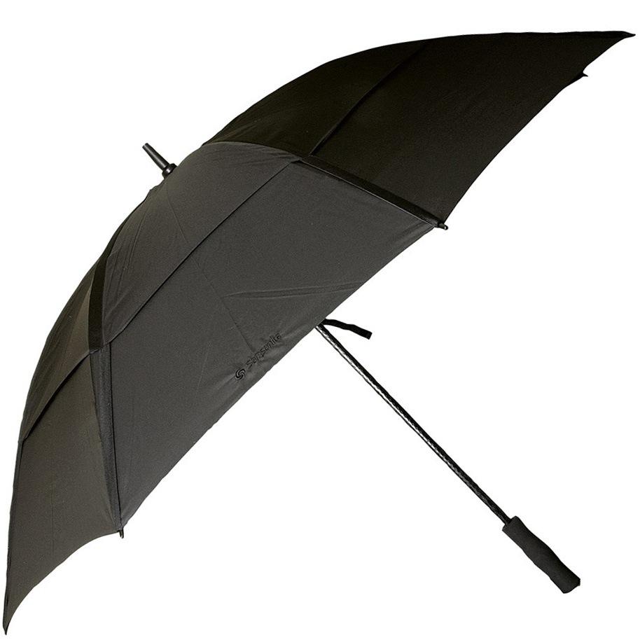 Зонт-трость Samsonite с системой «антиветер» черный большой