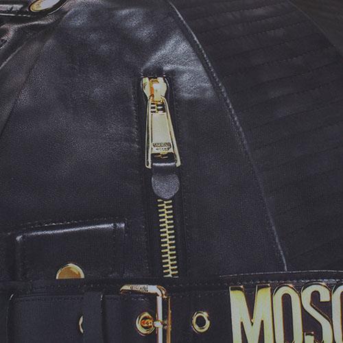 Зонт-трость Moschino с рисунком в виде замочков, фото
