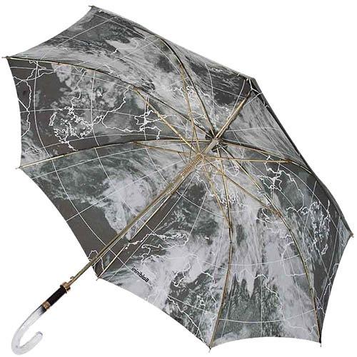 Дизайнерский зонт-трость Baldinini с рисунком грозового неба и полуавтоматическим механизмом, фото