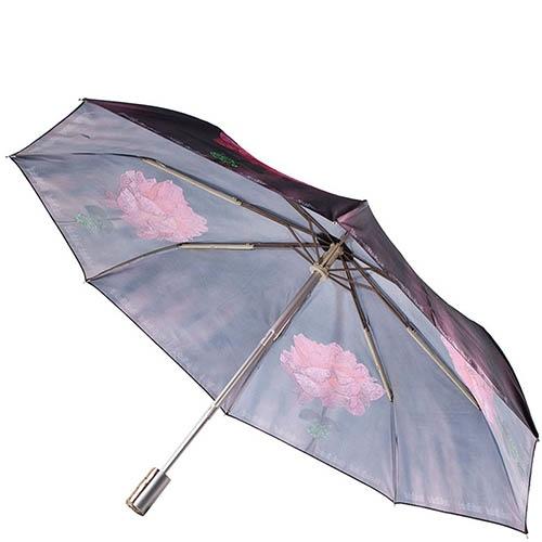 Женский зонт-автомат Ferre Baldinini с принтом в форме роз, фото