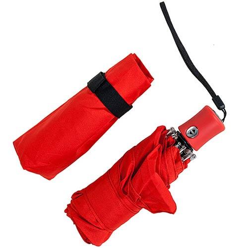 Легкий и компактный зонт-автомат Baldinini красного цвета, фото
