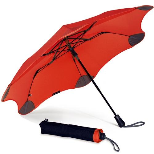 Зонт Blunt XS Metro красный полуавтоматический в два сложения, фото