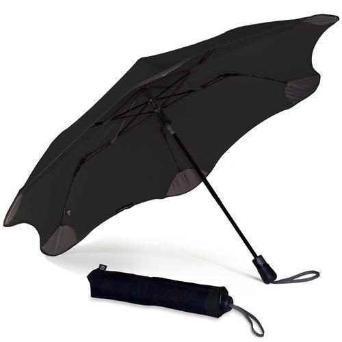 Зонт Blunt XS Metro черный полуавтоматический в два сложения, фото