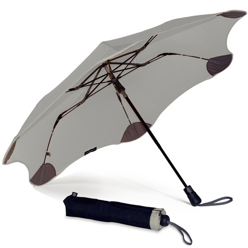 Зонт Blunt XS Metro светло-серый полуавтоматический в два сложения, фото