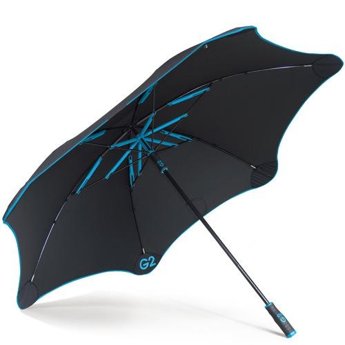 Зонт-трость Blunt Golf G2 черно-голубой с очень большим куполом, фото