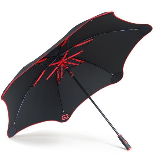 Зонт-трость Blunt Golf G2 черно-красный с очень большим куполом, фото