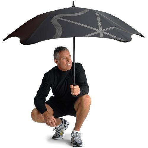 Зонт-трость Blunt Golf G2 черно-розовый с очень большим куполом, фото