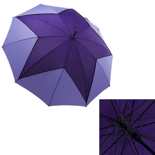 Женский зонт-трость Ferre с полуавтоматическим механизмом фиолетового цвета, фото