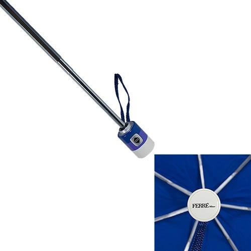 Синий классический зонт Ferre в 3 сложения, фото